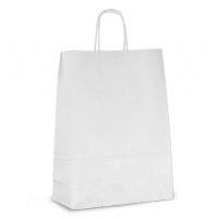 Крафт пакет белый с кручеными ручками, 240*280*140 мм