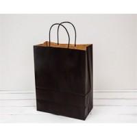 Крафт пакет коричневый с кручеными ручками, 250*320*110 мм