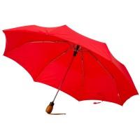 Зонт складной Wood, красный
