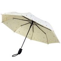 Зонт складной «Капли», бежевый
