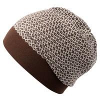 Шапка Crown, коричнево-белая