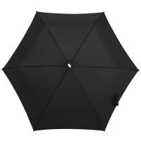 Складной зонт Alu Drop, 3 сложения, механический, черный