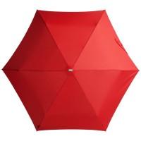 Складной зонт Alu Drop, 3 сложения, механический, красный