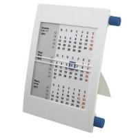 Календарь настольный на 2 года; белый с синим; 18х11 см; пластик; тампопечать