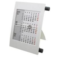Календарь настольный на 2 года; белый с черным; 18х11 см; пластик; тампопечать