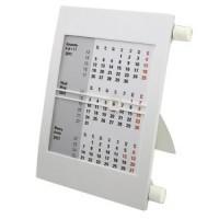 Календарь настольный на 2 года; белый; 18х11 см; пластик; тампопечать