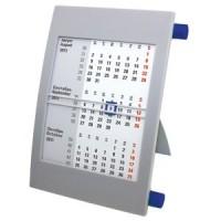 Календарь настольный на 2 года; серый с синим; 18х11 см; пластик; шелкография