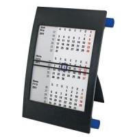 Календарь настольный на 2 года; черный с синим; 18х11 см; пластик; тампопечать