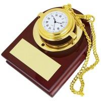 Часы карманные с подставкой; 13х10х7 см; дерево