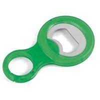 Открывалка для бутылок с карабином; зеленый; 9х5