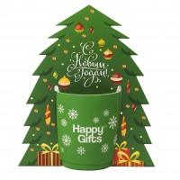 Коробка-украшение для чашки в виде елки