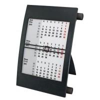 Календарь настольный на 2 года; черный; 18х11 см; пластик; тампопечать