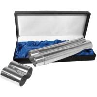 Футляр для сигар в подарочной коробке; 20х10 см; металл; лазерная гравировка