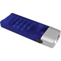 Набор отверток с фонариком; синий с серебристым; 9