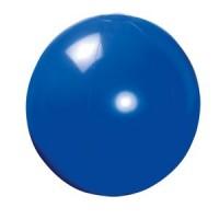 Мяч пляжный надувной; синий; D=40 см (накачан)