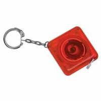 Брелок-рулетка (1м) прозрачно-красный; 4