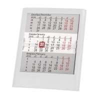 Календарь настольный на 2 года ; белый; 12 х16 см; пластик; тампопечать