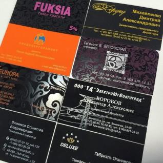 Шелкография на визитках Touch Cover